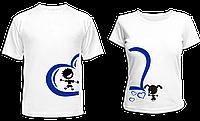 """Парные футболки """"Мыльные пузыри"""""""