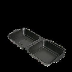 Ланч-бокс ЧЕРНЫЙ НР-6 ЯЩИК (для сендвича)150х152х60 (1ящ/250шт)