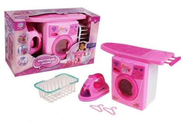 """Игровой набор Play Smart 'Уютный дом: большая стирка"""", стиральная машинка с аксессуарами (0923)"""