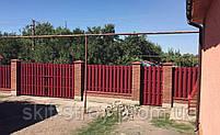 Евроштакетник металлический матовый 0,45мм и 0,5мм, штакетник декоративный (цвет под дерево), фото 6