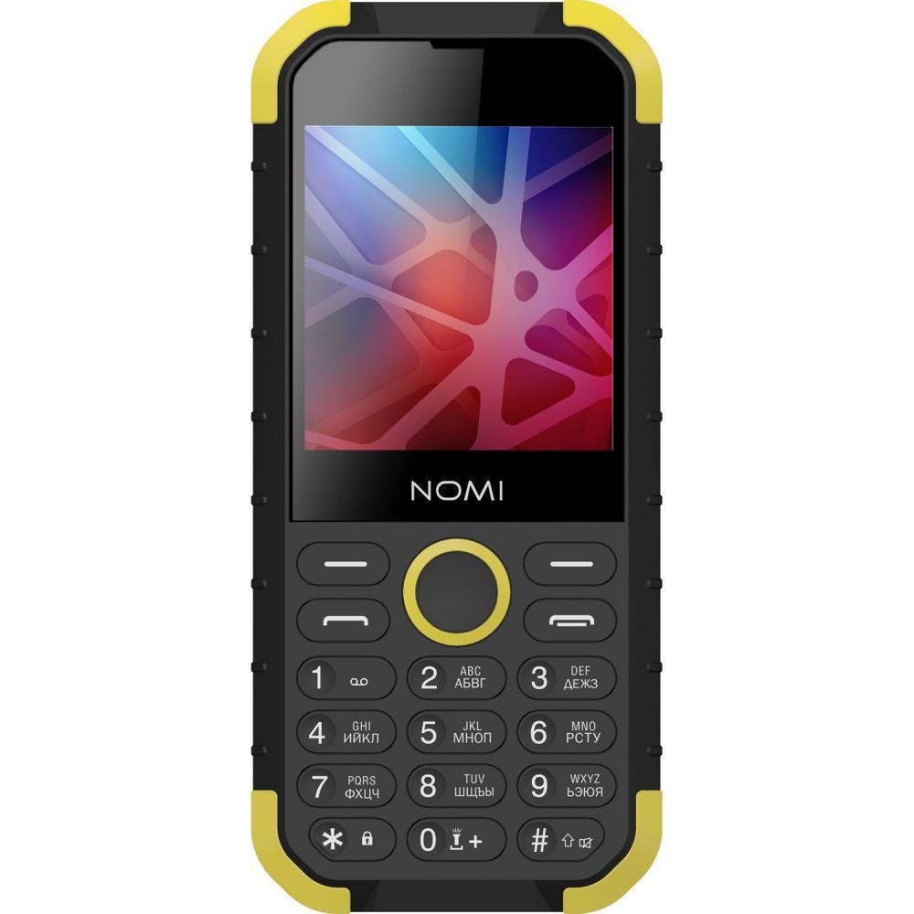 Кнопочный телефон номи защищенный с хорошей большой батареей на 2 сим карты Nomi i285 X-Treme Black-Yellow