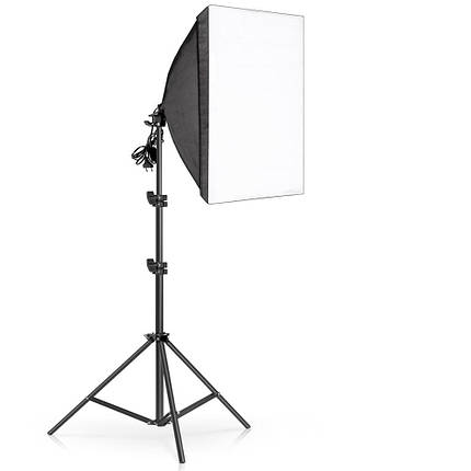 Софтбокс  50 x 70см. Постоянный студийный свет  на 4 лампы  + стойка, фото 2