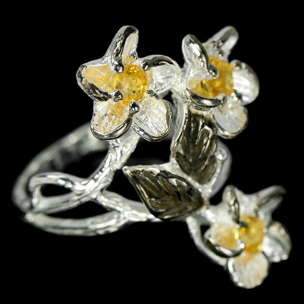 Серебряное кольцо с сапфиром желтым Империал, 2484КЦС