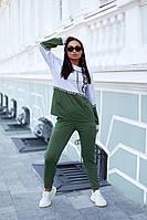 Стильный женский костюм кофта и брюками из двухнити с лампасами(48-58), фото 1