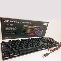 Клавиатура с подсветкой USB проводная UKC ZYG 800, фото 1