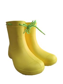 Жёлтые сапоги из пены, резиновые сапоги