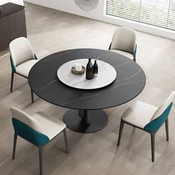 Мраморный стол круглый с поворотной платформой. Модель RD-1034