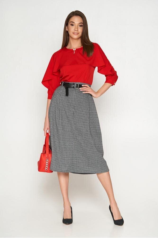 Модная блузка с пелериной красная, XL(50)