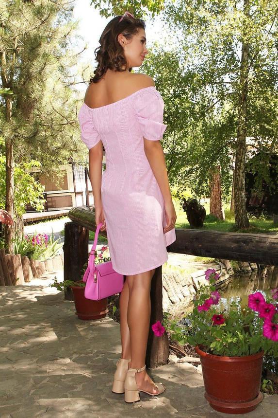 Красивый короткий сарафан из хлопка розовый, L(48), фото 2
