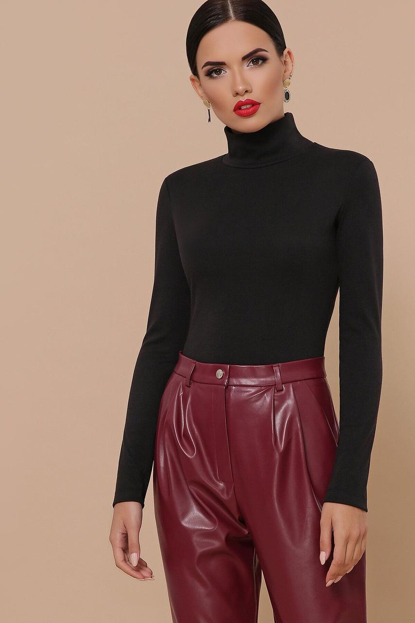 Женская водолазка черного цвета, XL(50)
