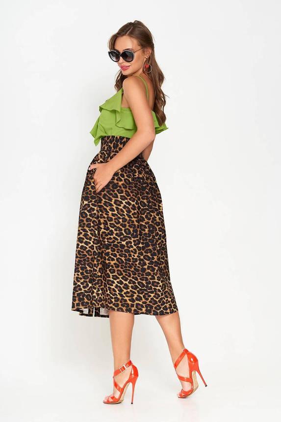 Юбка миди с высокой талией и леопардовым принтом, XL(50), фото 2