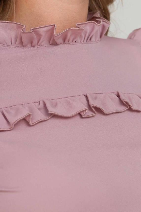 Красивая блузка с длинным рукавом пудра, XL(50), фото 2