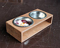 КІТ-ПЕС by smartwood Мискa на подставке | Миска-кормушка металлическая для собак щенков - 2 миски 750 мл, фото 1
