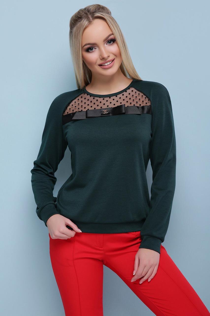 Модная женская кофточка зеленого цвета, S(44)