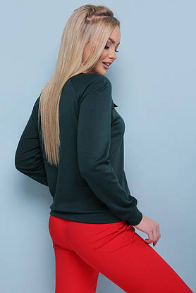 Модная женская кофточка зеленого цвета, S(44), фото 2