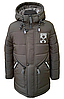 Удлиненная зимняя куртка для мальчика на овчине размеры 110-150, фото 4