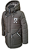 Удлиненная зимняя куртка для мальчика на овчине размеры 110-150, фото 2
