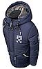 Удлиненная зимняя куртка для мальчика на овчине размеры 110-150, фото 9