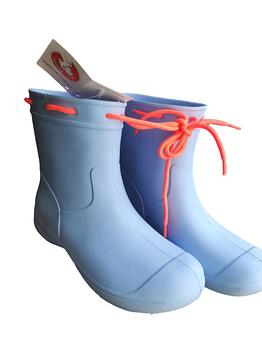 Голубые сапоги на слякоть и дождь, резиновые сапоги Сделано в Украине.