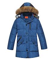 Пуховик детский куртка зимняя удлиненная на мальчика
