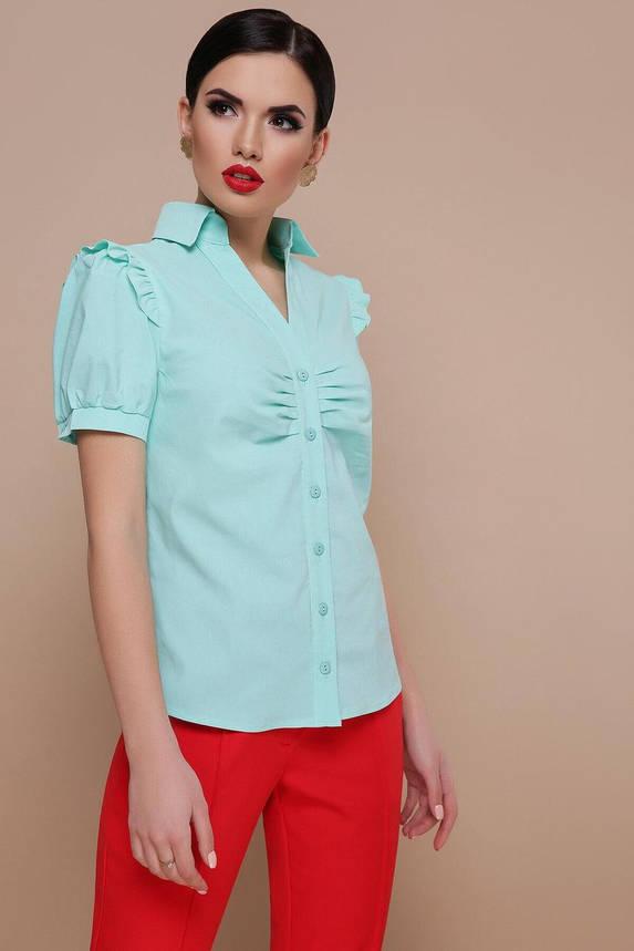 Мятная блузка в офисном стиле, XL(50), фото 2