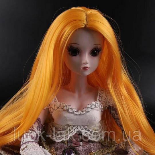 Парик для шарнирной куклы BJD 1/3, рыжий цвет волос