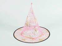 Розовая карнавальная шляпа Паутинка