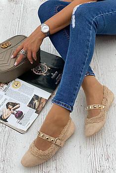 Туфли женские 6 пар в ящике бежевого цвета 36-40