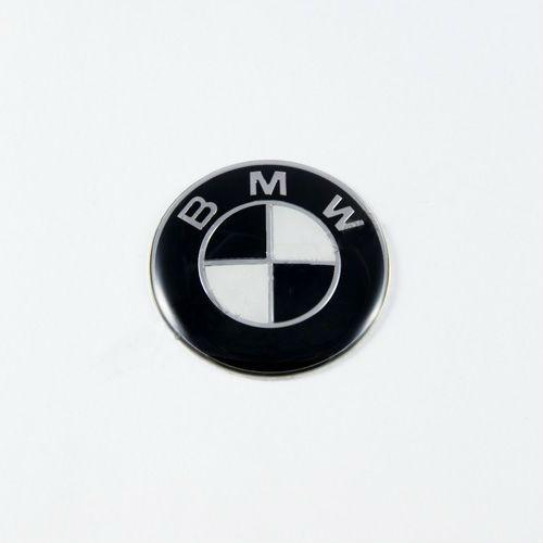 Эмблема BMW черно-белая 45мм (Руль)