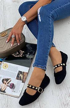 Туфли женские 6 пар в ящике черного цвета 36-40
