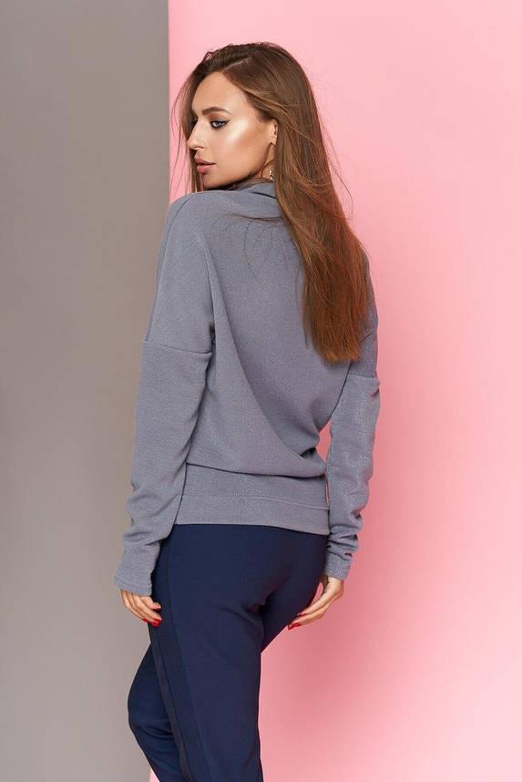 Модная женская кофточка с блеском серая, XL(50), фото 2