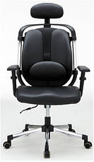 Крісло для лікаря Barsky ER-01 black Ergonomic, крісло з тканини, чорний, фото 3