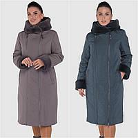 Женское зимние пальто батал. Модель 250-а. Размер 62