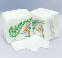 Салфетки бумажние белые, цветные по 25, 30, 40, 60, 100, 400 и 500 шт.