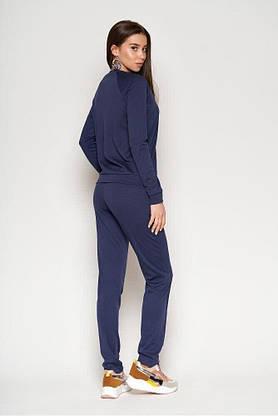 Прогулочный спортивный костюм женский синий, XL(50), фото 3