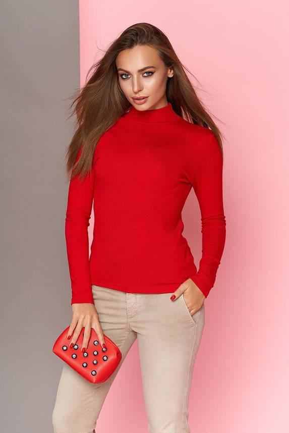 Водолазка женская красная, 54, фото 2