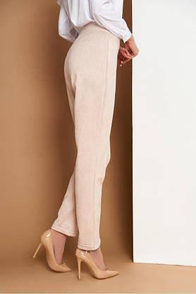 Женские замшевые брюки со стрелками в деловом стиле, 54, фото 3