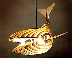 Люстра деревянная СОНЦЕ by smartwood | Люстра лофт | Дизайнерский потолочный светильник ROSEWOOD, WHITE