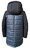 Модные зимние куртки и пуховики для мальчиков принтованные размеры 32-42, фото 7