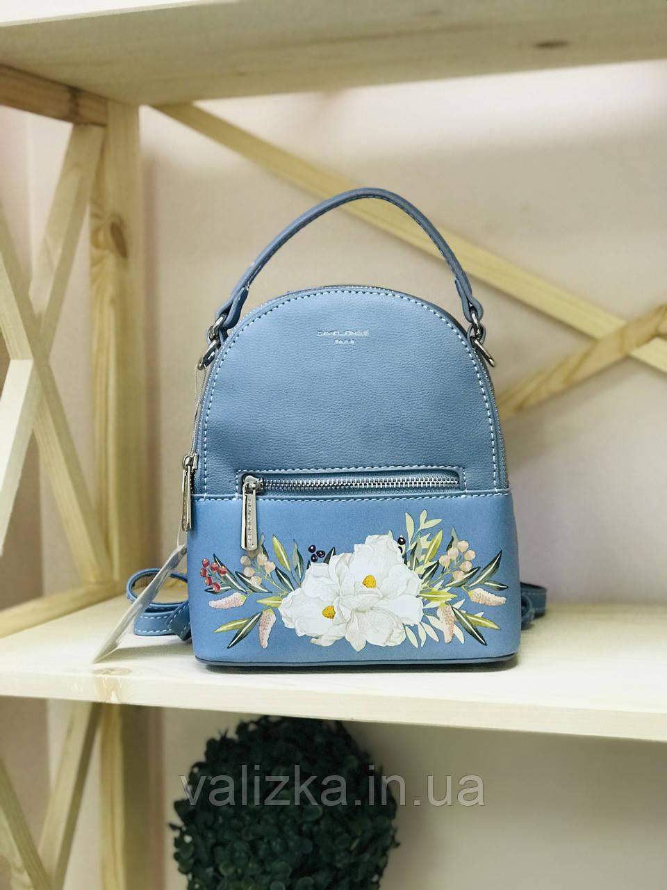 Рюкзак David Jones женский голубой