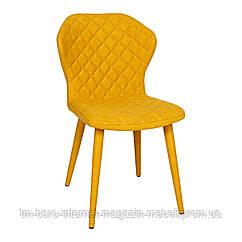 Стул VALENCIA (60*51*88 cm - текстиль) желтый NEW, Nicolas