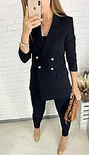 Жакет-пиджак женский Цвет: черный, кэмэл, голубой Размеры: 42, 44, 46, 48, 50, 52.