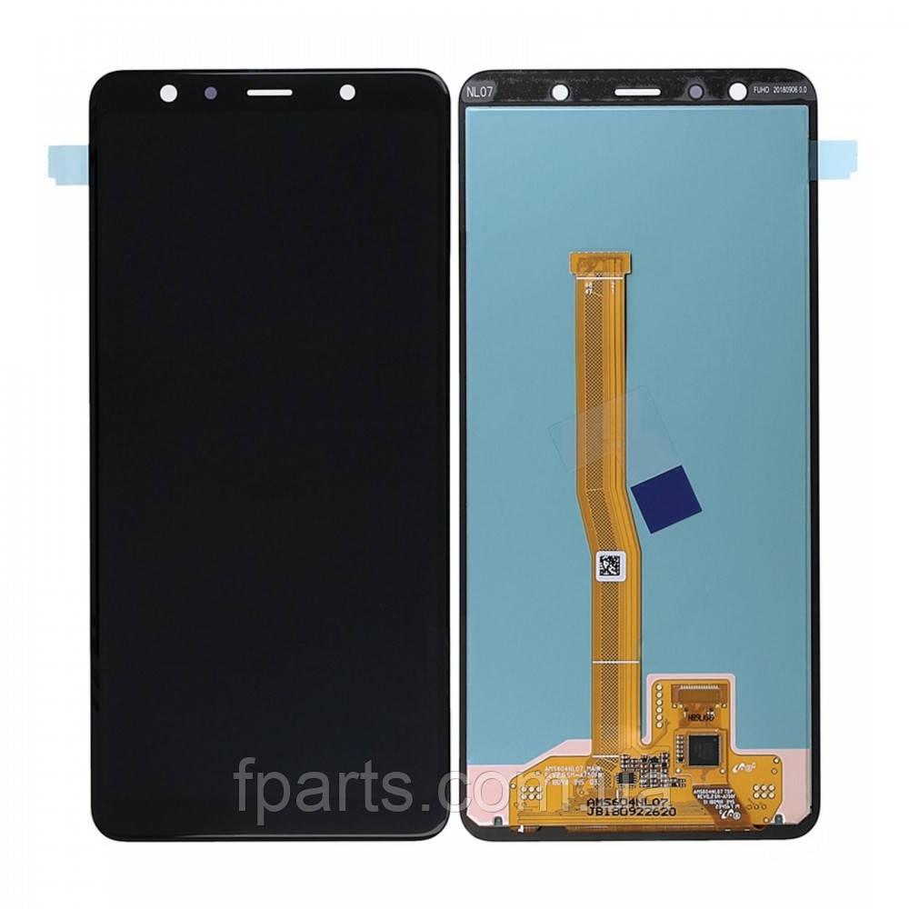 Дисплей Samsung A750 Galaxy A7 2018 с тачскрином, Black (Service Pack Original)