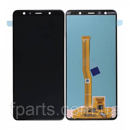 Дисплей Samsung A750 Galaxy A7 2018 с тачскрином, Black (Service Pack Original), фото 2