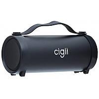 Портативная Bluetooth Колонка Cigii S33D Speaker Black + ПОДАРОК: Адаптер 8600 на 3 USB 2.1A с кабелем