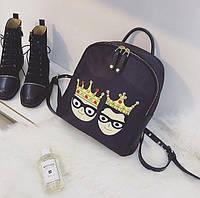 Модный мини-рюкзак с нашивками