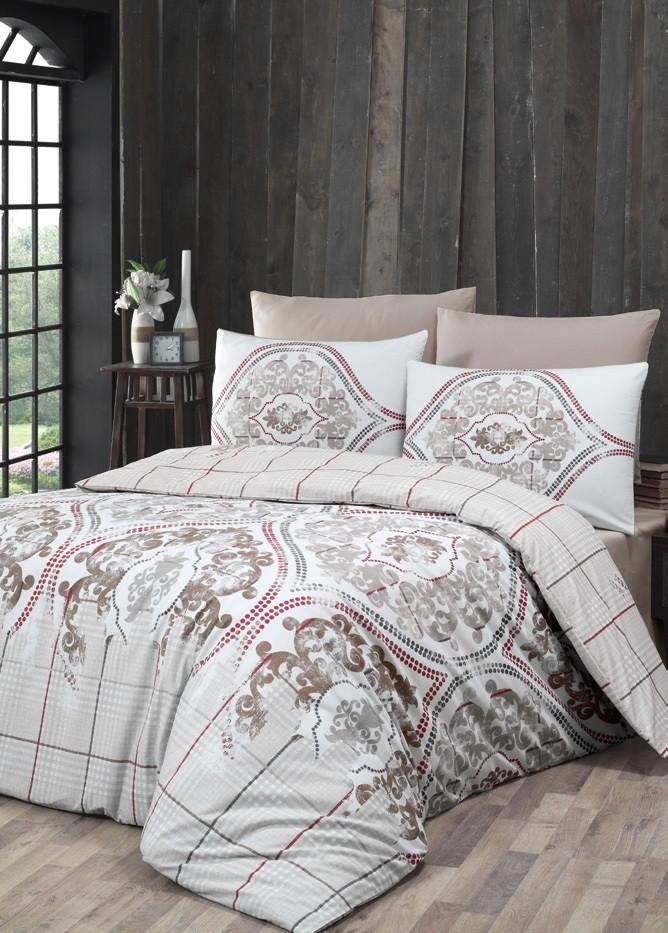 Евро Комплект постельного белья Ranforce Cariana 200x220 см. (40829_2,0)