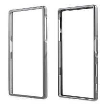 Чехол бампер Dual Aluminum Alloy для Sony Xperia Z5 серый