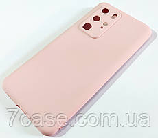 Чехол для Huawei P40 Pro матовый Silicone Case Full Cover Macarons Color Розовый