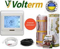 Теплый пол Volterm Hot Mat 2,3 м²/400Ват нагревательный мат с сенсорным программируемым терморегулятором E91